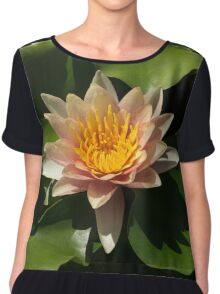 Exotic Colors - A Soft Coral Waterlily Chiffon Top