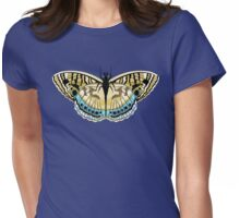 Tiger Stripe Butterfly Womens Fitted T-Shirt