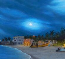 Playa de noche Sticker