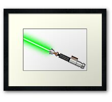 Luke Lightsaber - with lineart  Framed Print