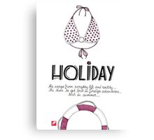 Holiday - Lettering Canvas Print