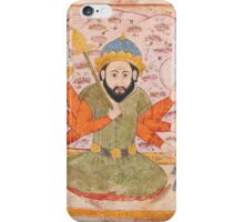 An illustration from a series on divination and omens (Falnamah)  the figure of Saturn, India, Mughal, circa iPhone Case/Skin