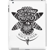Surfing skull maverick monochrome iPad Case/Skin