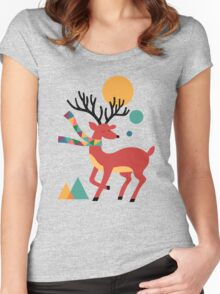 Deer Autumn Women's Fitted Scoop T-Shirt