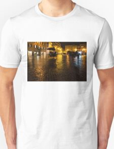 Golden Glow - Night on the Spanish Steps Piazza in Rome, Italy Unisex T-Shirt