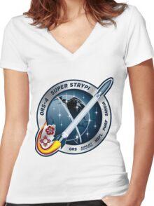 Spaceborne Payload Assist Rocket (Super Strypi) Women's Fitted V-Neck T-Shirt