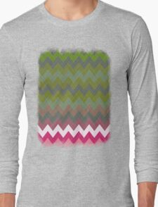 Pink Roses in Anzures 3 Chevron 5T Long Sleeve T-Shirt
