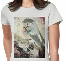 Bullfinch waiting for his bride Womens Fitted T-Shirt