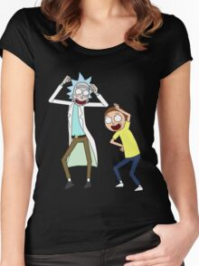 COME ON RICK n MORTY Women's Fitted Scoop T-Shirt