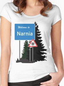 Narnia traffic Women's Fitted Scoop T-Shirt