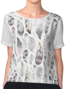 Feathers Chiffon Top