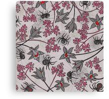 Alpine-Columbine bloom Pattern Canvas Print