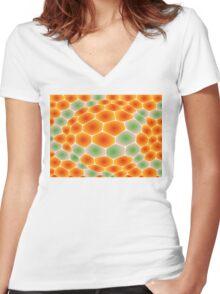 Snake Skin Women's Fitted V-Neck T-Shirt