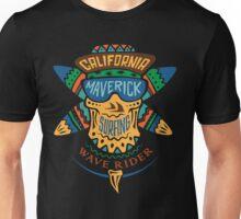 Surfing skull maverick color Unisex T-Shirt