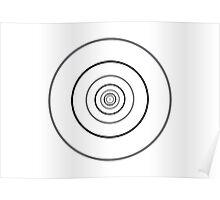 optics: circles from dot Poster