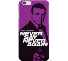 Never Say Never Again - Movie Poster iPhone Case/Skin