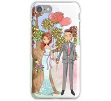 Beautiful Wedding Bride and Groom Hearts Tree iPhone Case/Skin