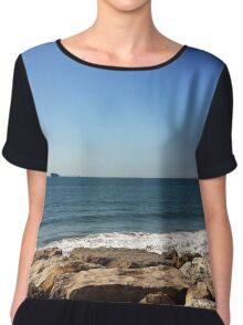 Sky, Water and Rocks Chiffon Top