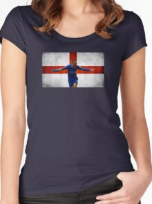 Jamie Vardy for England Women's Fitted Scoop T-Shirt