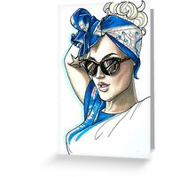 Super Cool Bandana Outfit Greeting Card
