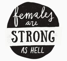 Females Are Strong As Hell | Blue One Piece - Long Sleeve