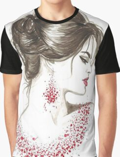Rose Petals On The Neck Graphic T-Shirt