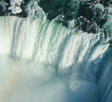 Flying Over Icy Niagara Falls Sticker