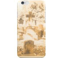 """"""" 'THE CEMETERY', a Series, #15, Above all, the Cross """"... prints and products iPhone Case/Skin"""