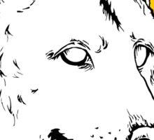 Wolf - Sun Sticker