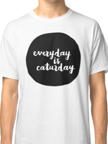 Caturday | Hand Lettered II Classic T-Shirt