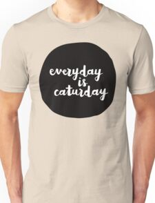 Caturday | Hand Lettered II Unisex T-Shirt