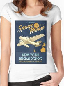 Fly the Spruce Moose Women's Fitted Scoop T-Shirt