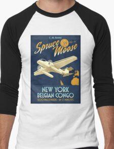 Fly the Spruce Moose Men's Baseball ¾ T-Shirt
