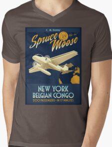 Fly the Spruce Moose Mens V-Neck T-Shirt