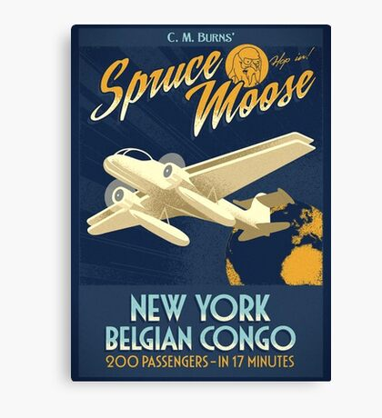 Fly the Spruce Moose Canvas Print