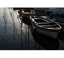 Charming Old Wooden Boats in the Harbor Photographic Print