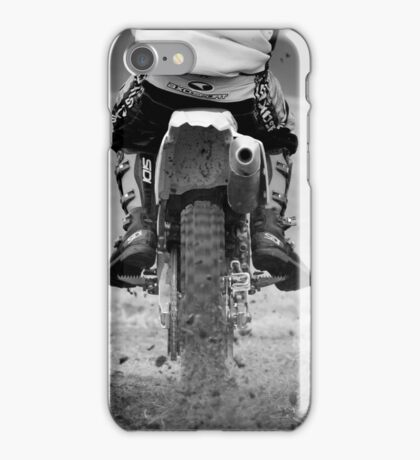 Moto x motorcycle kicking up the dirt iPhone Case/Skin