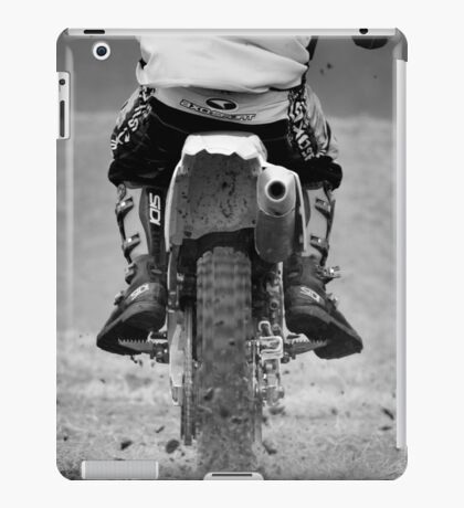 Moto x motorcycle kicking up the dirt iPad Case/Skin