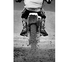 Moto x motorcycle kicking up the dirt Photographic Print