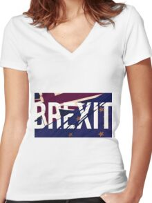 BREXIT Women's Fitted V-Neck T-Shirt