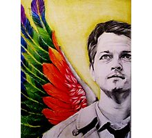 Castiel with colored wings Photographic Print