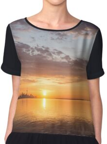 Golden Pink Toronto Sunrise Chiffon Top