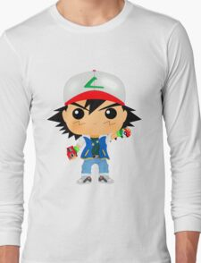 Ash Ketchum Pop Long Sleeve T-Shirt