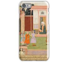 An illustration to the Akhbar-i Barmakiyan, Mansur brought before Yahya Barmaki, India, Mughal, circa iPhone Case/Skin