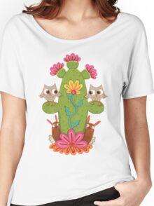 Cactus Hoot Women's Relaxed Fit T-Shirt