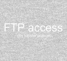 Funny Programmer Coder - FTP (file transfer protocol) Access Kids Tee