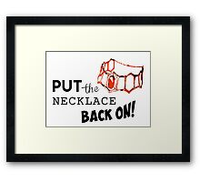 GoT - Red Woman Necklace Framed Print