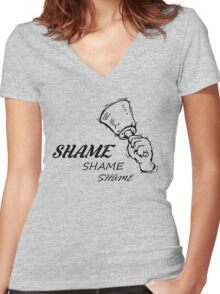 Game of Thrones - Walk of Shame Women's Fitted V-Neck T-Shirt