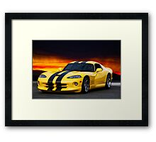 Dodge Competition Viper Framed Print
