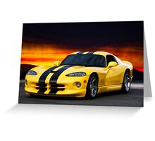 Dodge Competition Viper Greeting Card